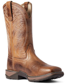 Ariat Women's Crackled Cottage Western Boots - Square Toe, Brown, hi-res