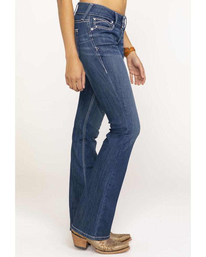 Ariat Women's August Aztec R.E.A.L. Bootcut Jeans , Blue, hi-res