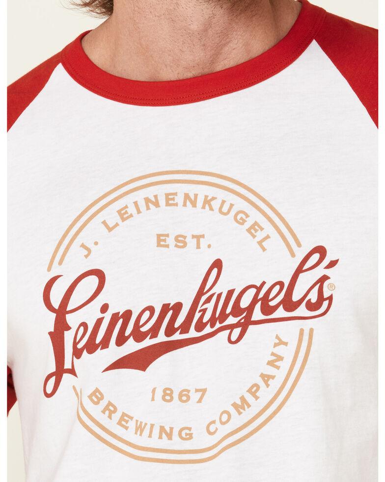 Brew City Beer Gear Men's Leines Brand Mark Graphic Raglan Long Sleeve T-Shirt , Multi, hi-res