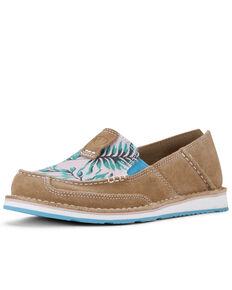 Ariat Women's Palm Print Cruiser Shoes - Moc Toe, Brown, hi-res