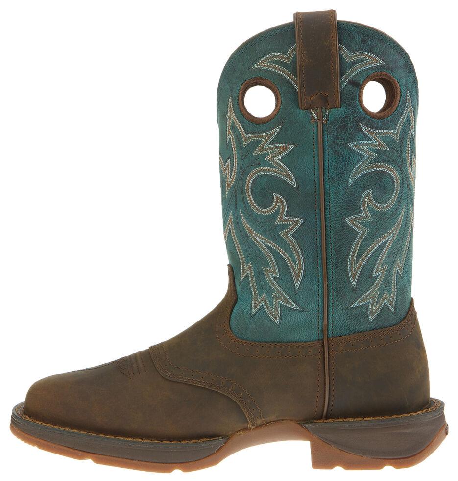Durango Rebel Men's Tan Pull-On Western Boots - Wide Square Toe, Tan, hi-res