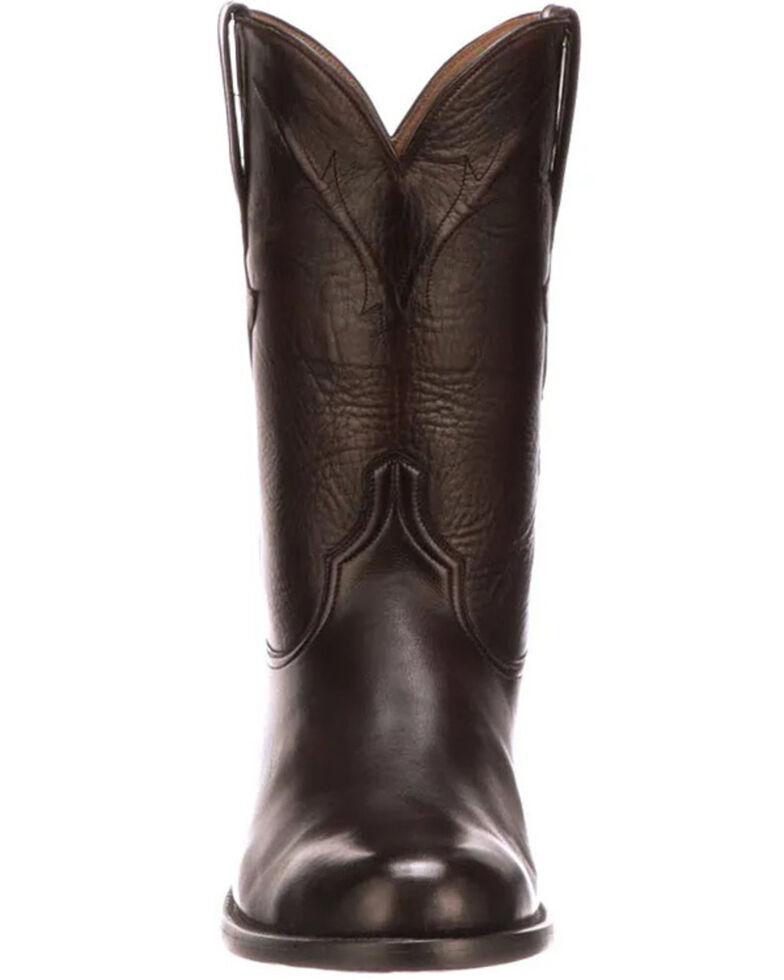 Lucchese Men's Cherry Burn Western Boots - Round Toe, Black Cherry, hi-res