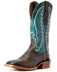Ariat Men's Station Dry Whiskey Western Boots - Wide Square Toe, Brown, hi-res