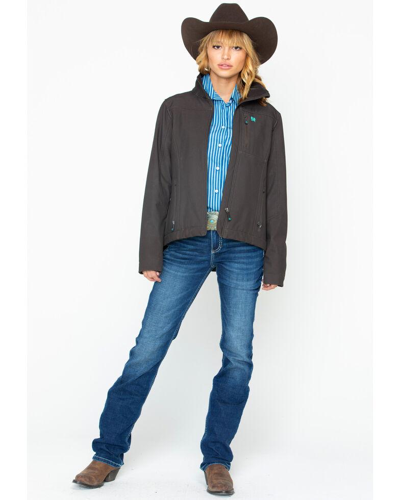 Cinch Women's Chocolate Softshell Jacket, Brown, hi-res