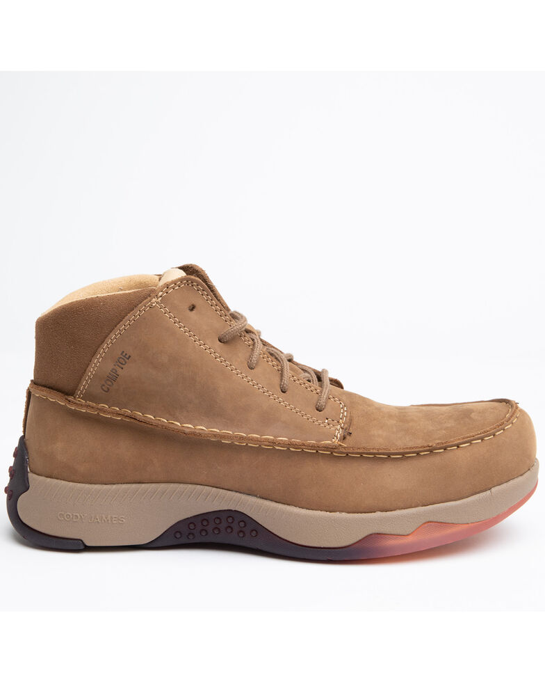 Cody James Men's Casual Driver Work Boots - Composite Toe, Brown, hi-res