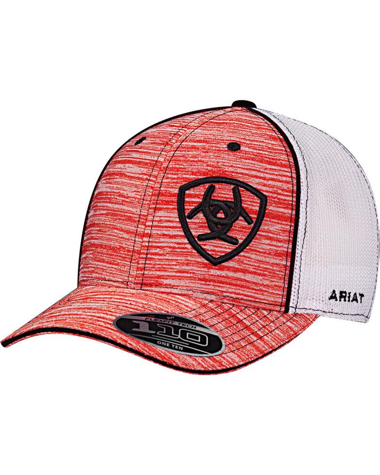 Ariat Men's Red Striped Pattern Baseball Cap , Red, hi-res