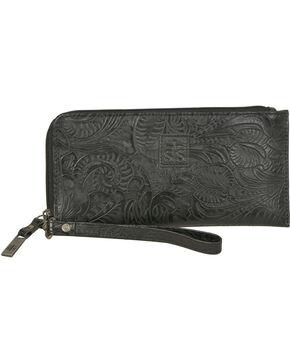 STS Ranchwear Black Floral Clutch Wallet, Black, hi-res