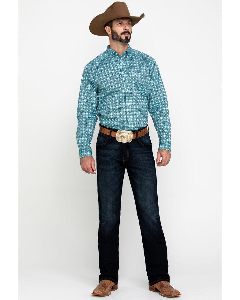 Ariat Men's Kerrington Stretch Geo Print Long Sleeve Western Shirt - Big , Multi, hi-res