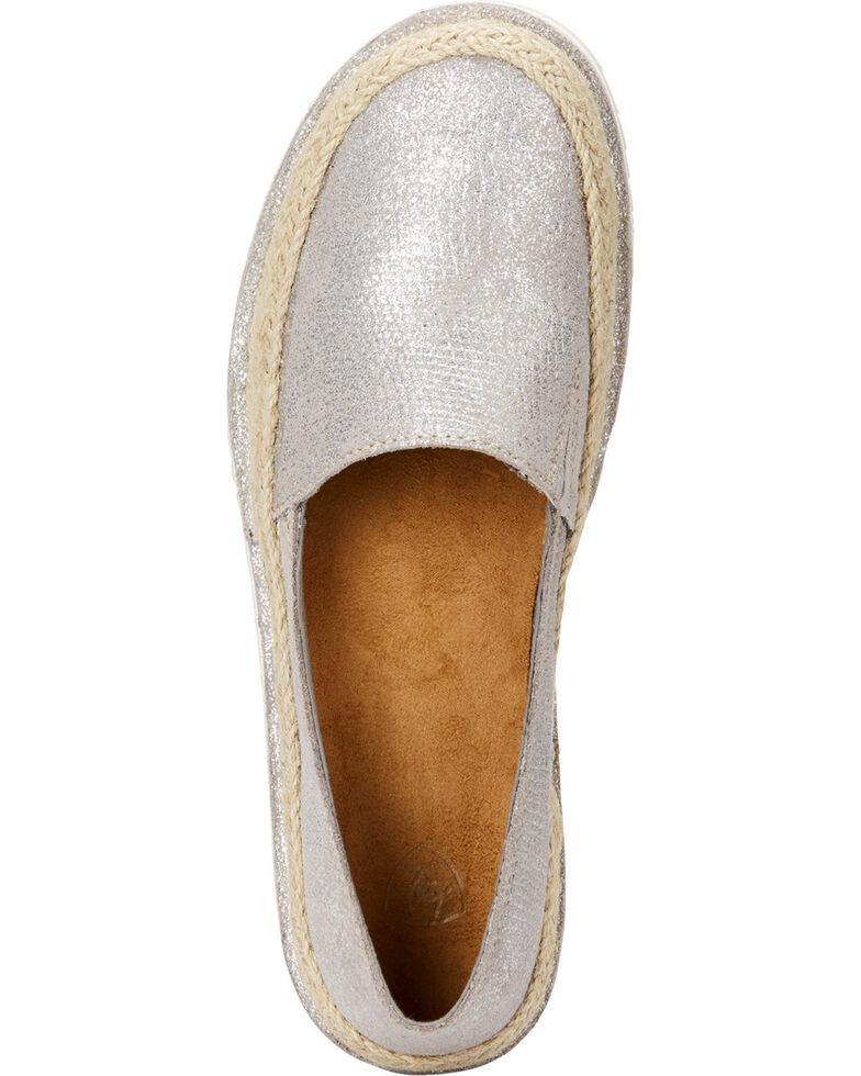 Ariat Women's Silver Cruiser Espadrille Sparklin' Shoes , Silver, hi-res
