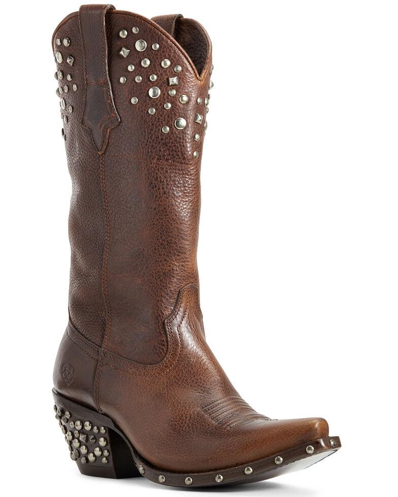 Ariat Women's Calypso Pebbled Walnut Western Boots - Snip Toe, Brown, hi-res