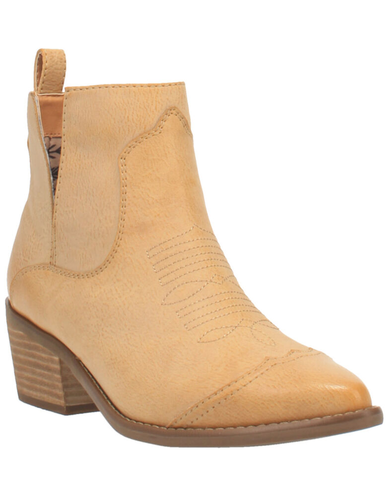 Code West Women's Slaps Fashion Booties - Round Toe, Natural, hi-res