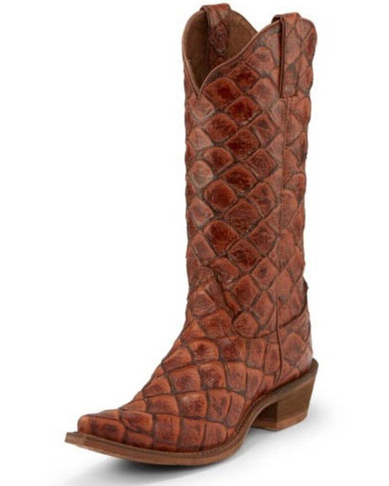 Nocona Women's Bessie Cognac Western Boots - Snip Toe, Cognac, hi-res