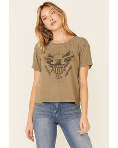Idyllwind Women's Rising Star Graphic Trustee Tee , Olive, hi-res