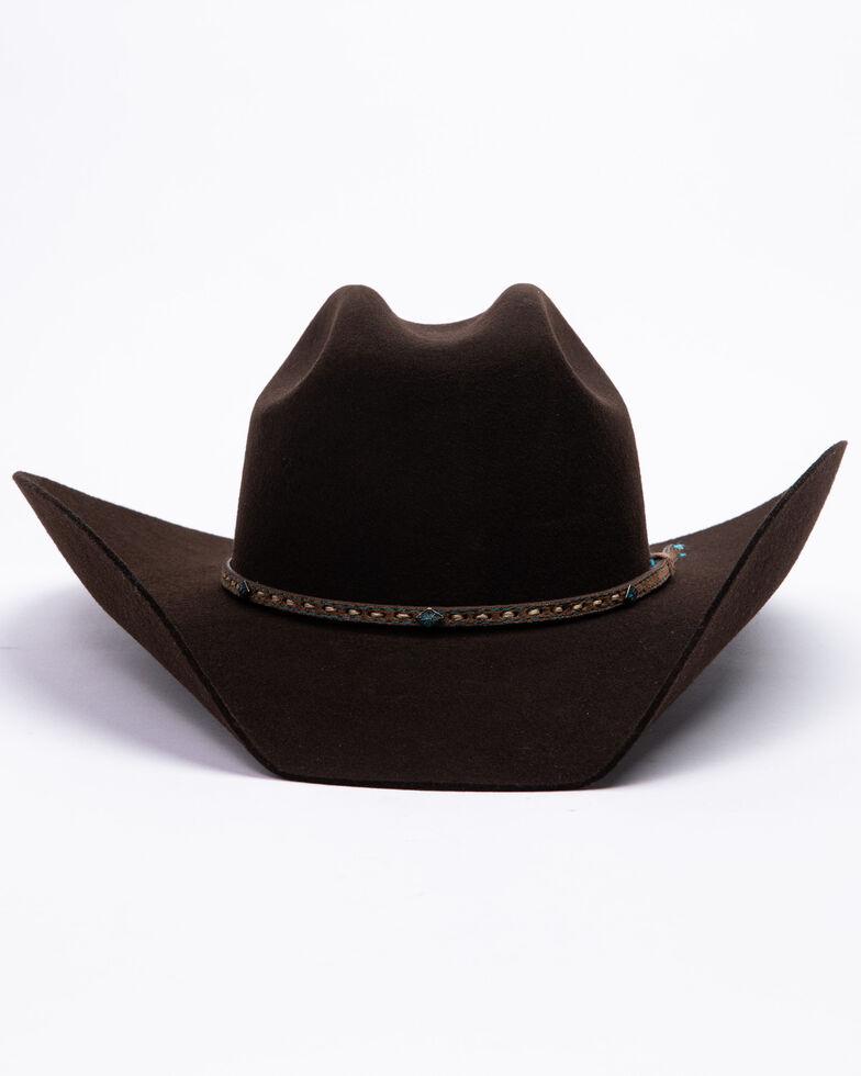 Stetson Men's 3X Ridge Row Western Felt Hat , Chocolate, hi-res