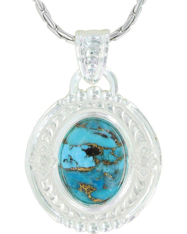 Montana Silversmiths Women's Glacier Pools Of Turquoise Jewelry Set , Silver, hi-res
