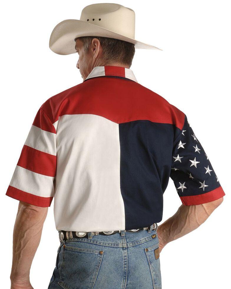 Rangewear by Scully USA Flag Western Shirt - Big & Tall, Multi, hi-res