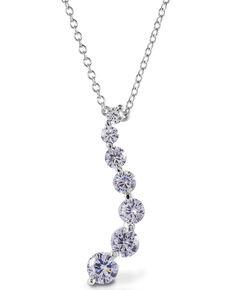 Kelly Herd Women's Journey Pendant Necklace , Silver, hi-res