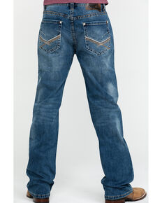 Rock & Roll Denim Men's X Stitch Double Barrel Straight Jeans , Blue, hi-res