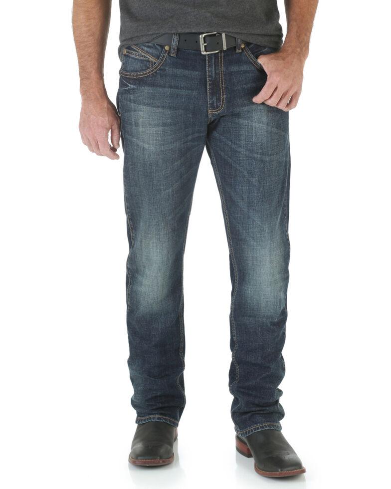 Wrangler Men's Bozeman Retro Stretch Slim Straight Leg Jeans , Denim, hi-res