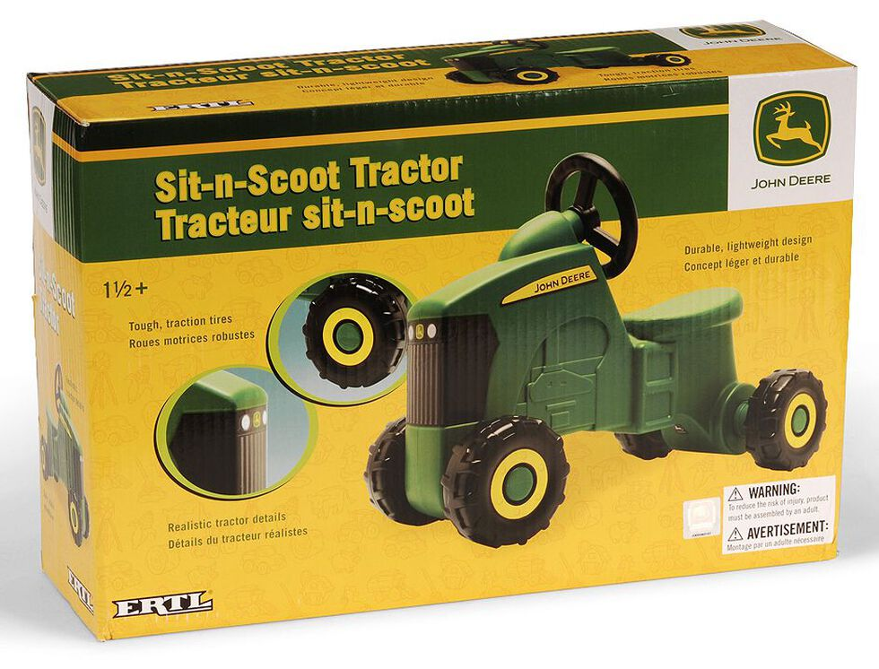 John Deere Sit N Scoot Riding Tractor Toy, Green, hi-res