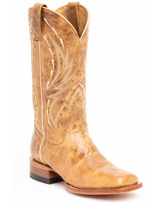 Shyanne Women's Studded Tan Western Boots - Wide Square Toe, Tan, hi-res