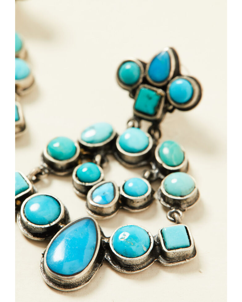 Double D Ranch Women's Sky City Earrings, Turquoise, hi-res