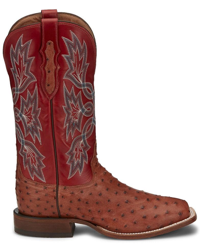 Tony Lama Men's Royston Brandy Western Boots - Square Toe, Brown, hi-res