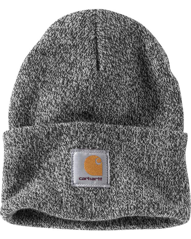 Carhartt Men's Black & White Acrylic Watch Hat , Black, hi-res