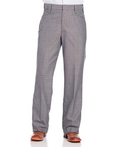 Circle S Men's Grey Suited Separates Ranch Pants - Straight Leg, Grey, hi-res