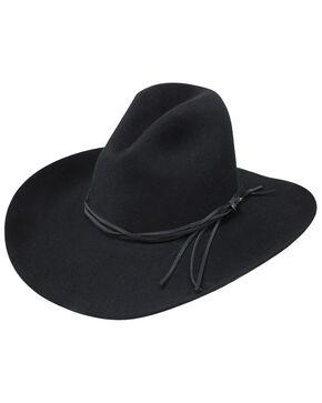 Stetson Men's Gus Black Felt Hat, Black, hi-res