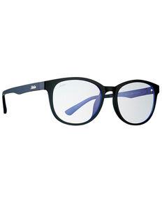 Hobie Bells Satin Black & Blue Blocker Clip-On Polarized Sunglasses , Black, hi-res