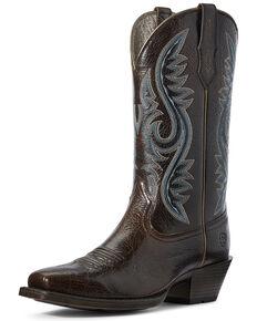 Ariat Women's Sundown Western Boots - Square Toe, Brown, hi-res