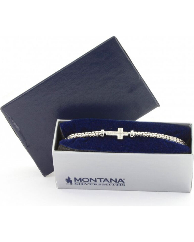 Montana Silversmiths Women's Silver In The Middle Of Faith Bracelet , Silver, hi-res