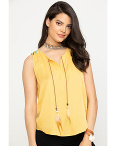 Ariat Women's Thelma Sleeveless Top, Gold, hi-res
