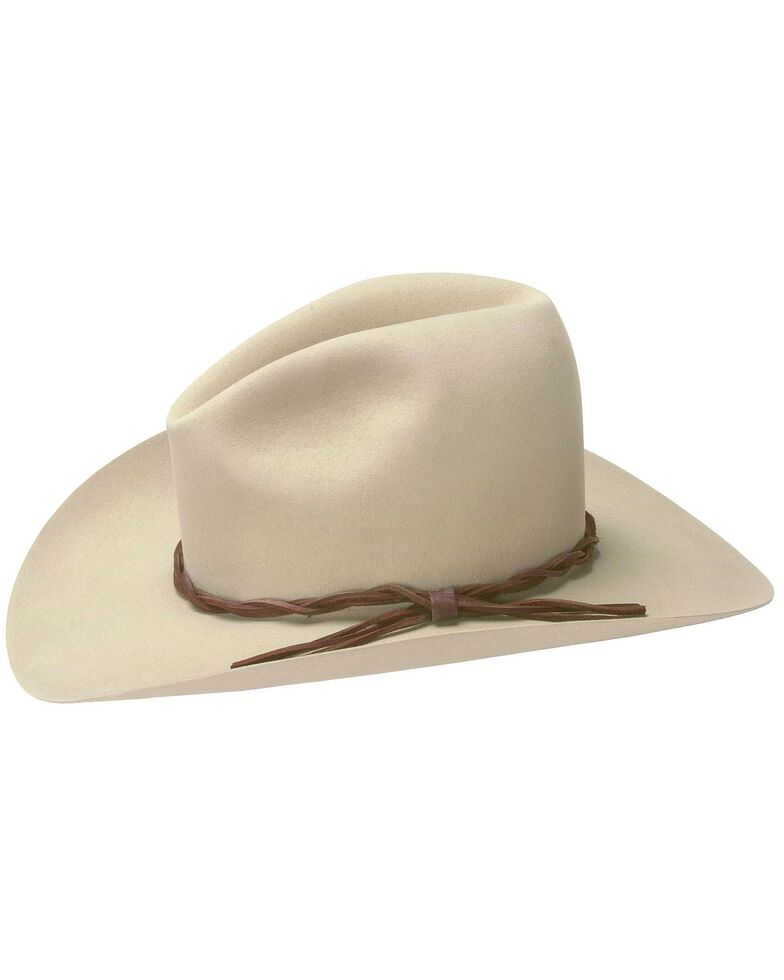 Stetson Men's 6X Gus Fur Felt Cowboy Hat, Silverbelly, hi-res
