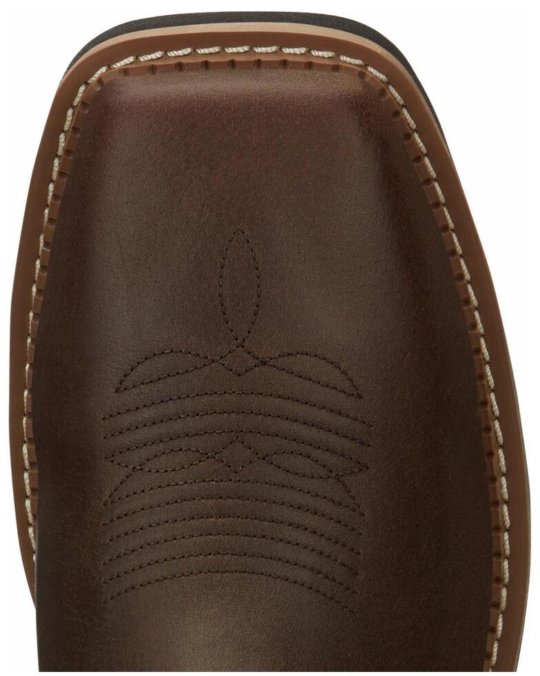Justin Men's Carbide Waterproof Western Work Boots - Composite Toe, Brown, hi-res