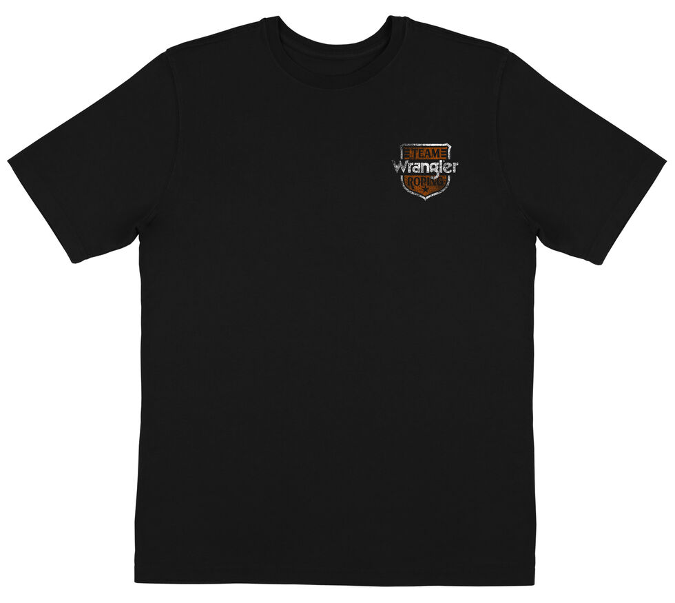 Wrangler Men's Team Roping Black Tee, Black, hi-res