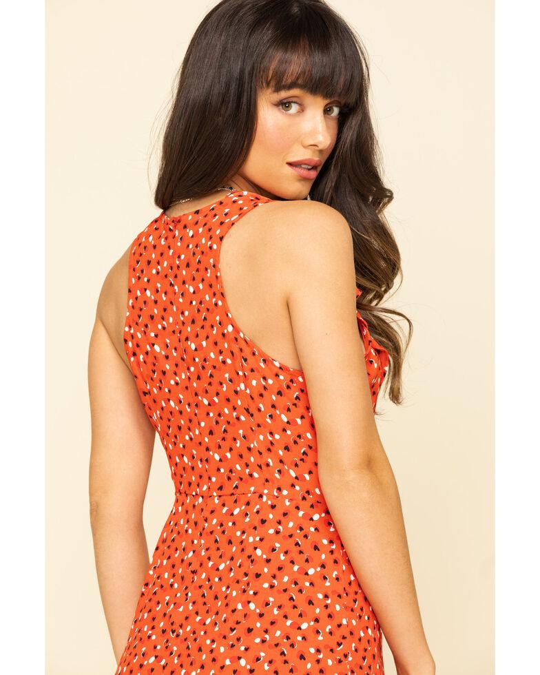 Molly Bracken Women's Sweet Heart Ruffle Wrap Dress, Red, hi-res