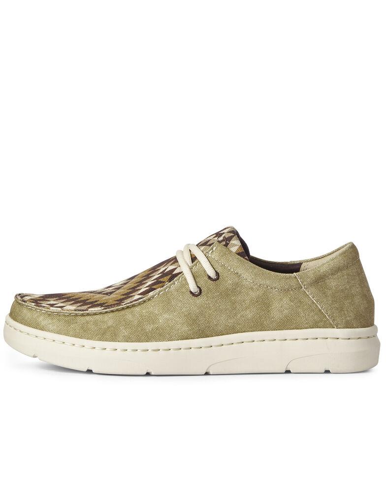 Ariat Men's Hilo Desert Oasis Print Shoes - Moc Toe, Brown, hi-res