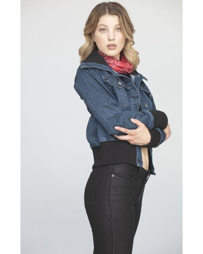 Kimes Ranch Women's Rosie Bomber Jacket, Indigo, hi-res