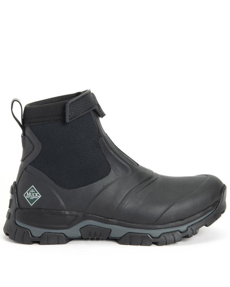 Muck Boots Men's Apex Mid Rubber Boots - Round Toe, Black, hi-res