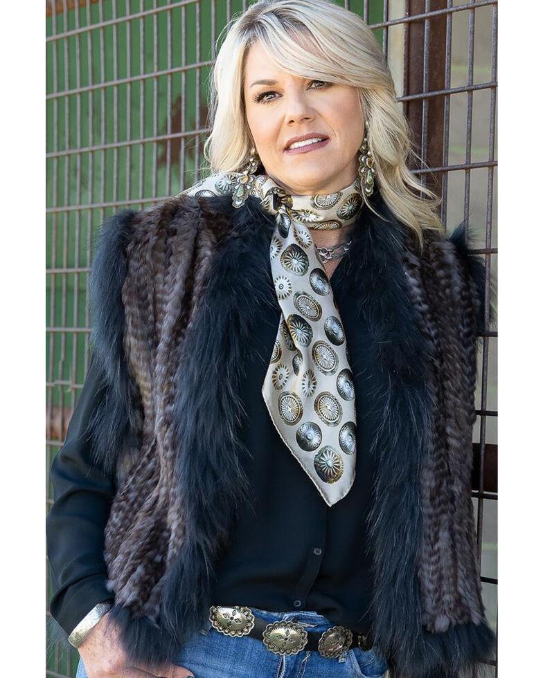 Fringe Scarves Women's Baby Concho Scarf, Ivory, hi-res