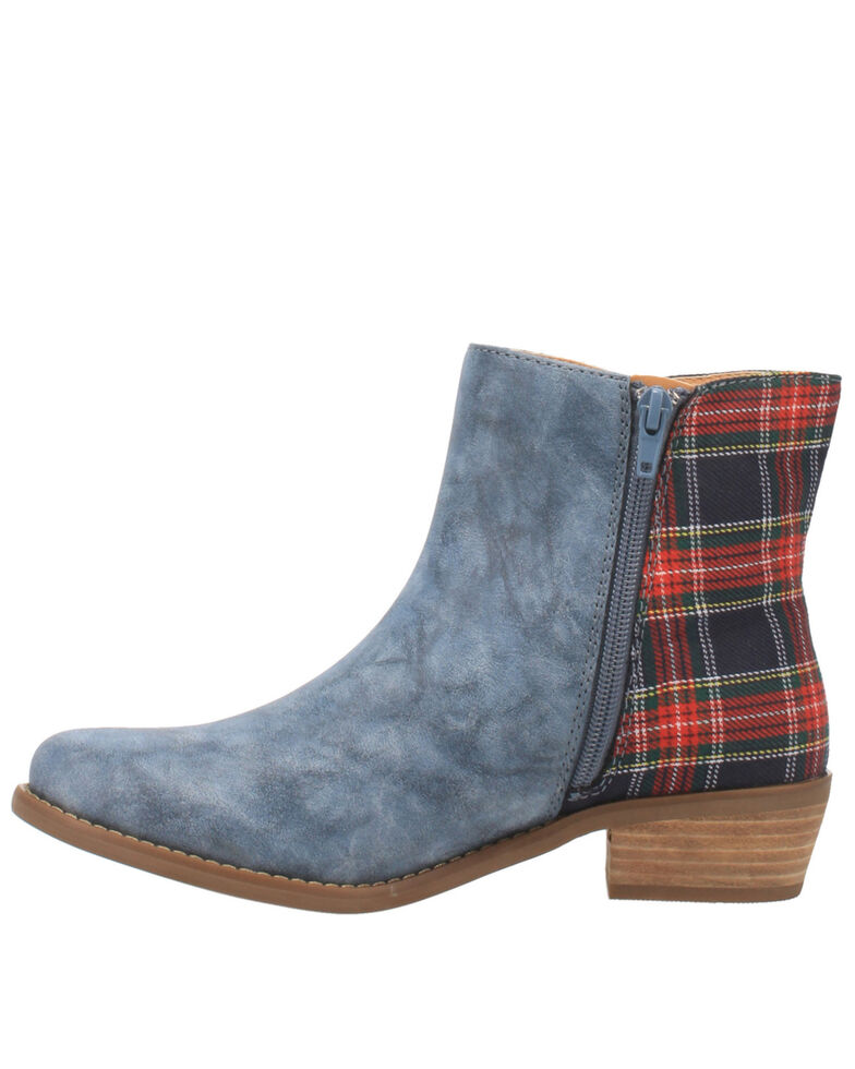 Code West Women's Bae Bae Fashion Booties - Round Toe, Blue, hi-res