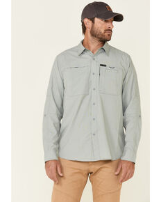 ATG™ by Wrangler Men's All-Terrain Dark Forest Hike To Fish Long Sleeve Western Shirt , Forest Green, hi-res