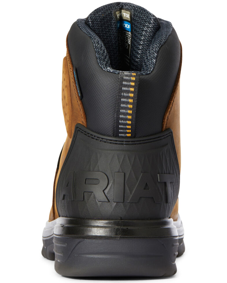 Ariat Men's Outlaw Work Boots - Carbon Toe, Dark Brown, hi-res