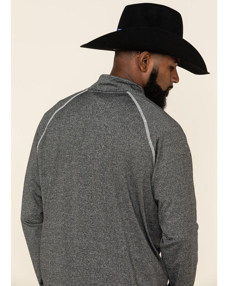 Cowboy Hardware Men's 1/4 Zip Front Sports Knit Pullover , Black, hi-res
