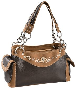 Blazin Roxx Floral Embroidered Satchel, Distressed, hi-res