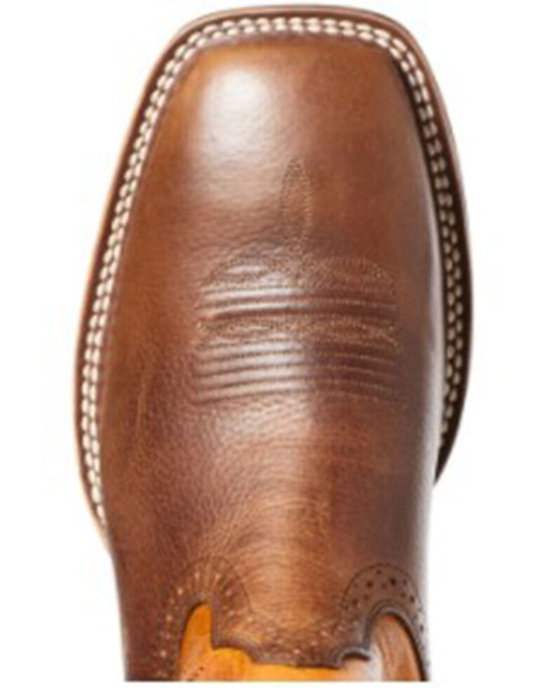 Ariat Men's Quickdraw Pinto Western Boots - Wide Square Toe, Brown, hi-res