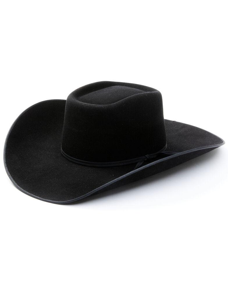 Cody James Black 6X Fur Felt Brick Western Hat , Black, hi-res