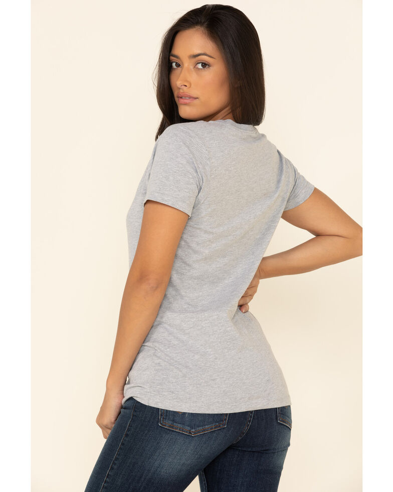 Ariat Women's Heather Grey Keep On Truckin Graphic Tee , Heather Grey, hi-res